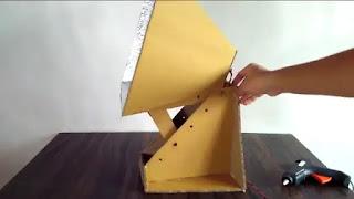 Cara Membuat lampu studio foto dari kardus bekas