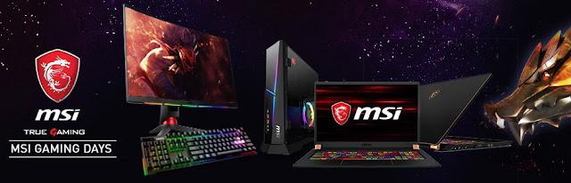 Mejores ofertas promoción MSI Gaming Days de PcComponentes