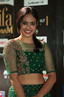 Nandita Swetha in a tight Green Choli Ghagra at IIFA Utsavam Awards March 2017 ~ 053.JPG