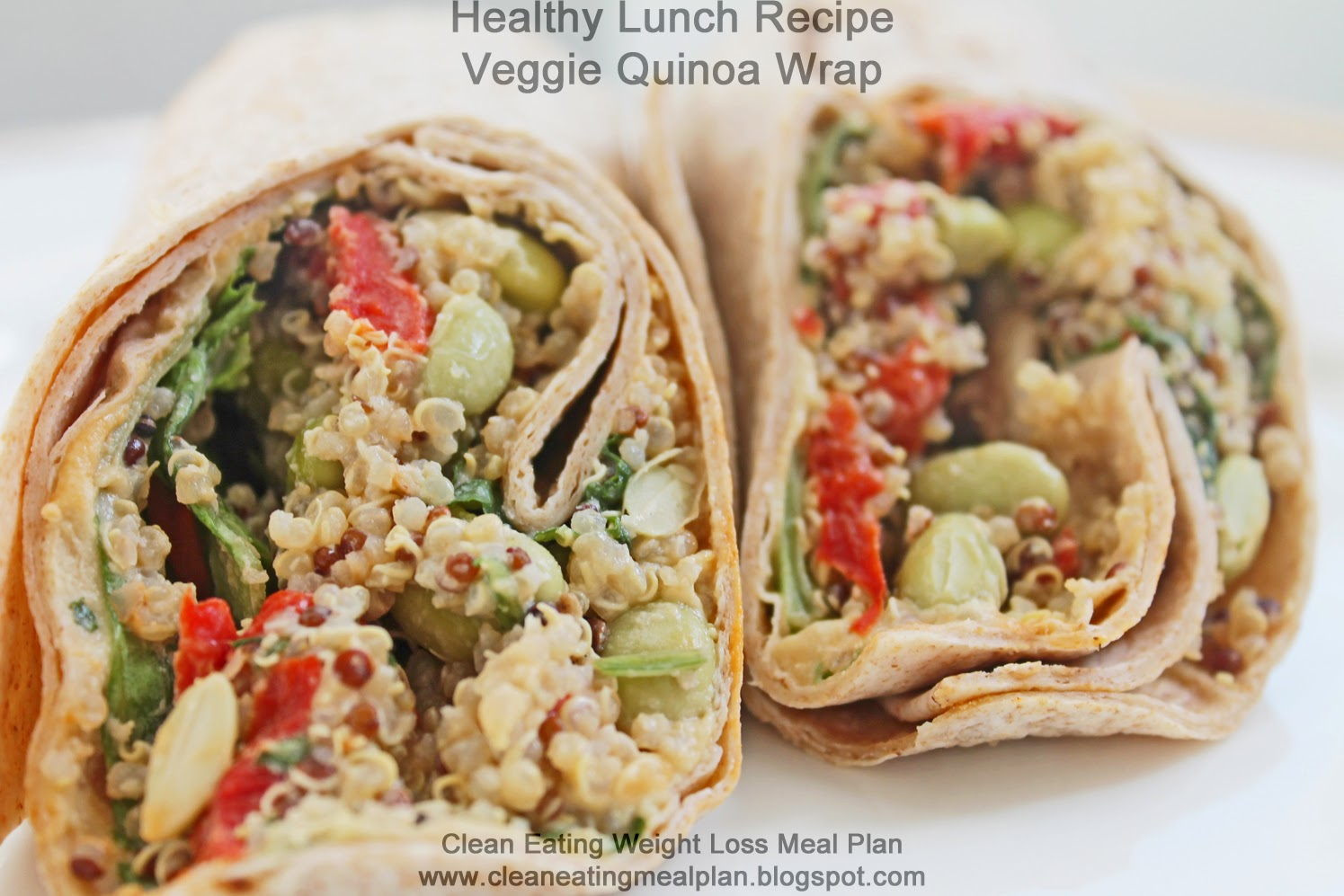 Healthy Lunch Recipe For Weight Loss Meal Plan Veggie Quinoa Wrap
