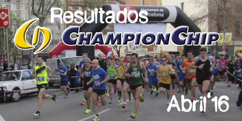 Lliga Championchip 2016 abril