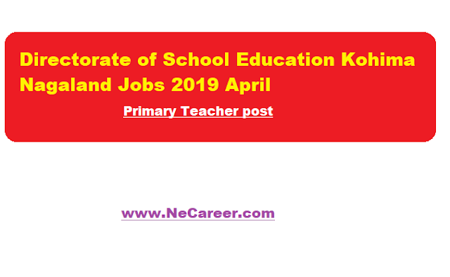 dse nagaland 2019 -teacher jobs in kohima