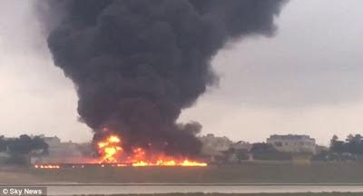 5 dead after plane carrying European Union officials crashes in Malta (Photos)
