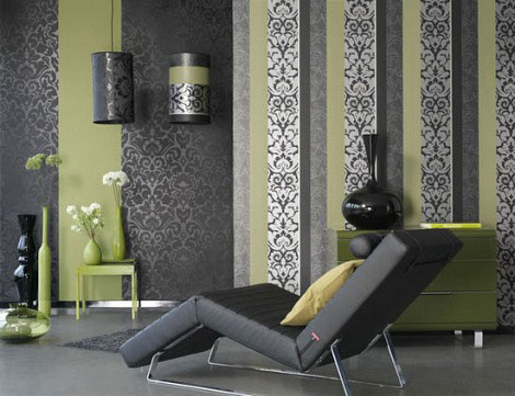 Eye for design olive green interiors - Green and grey room ideas ...