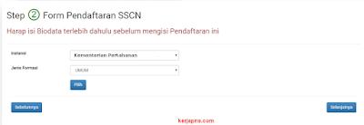 pilihan jabatan formasi dan instansi sscasn.bkn.go.id cpns 2019