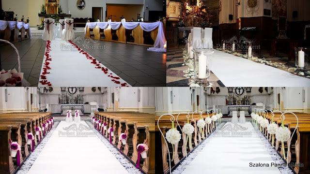 Ślubne dekoracje kościoła