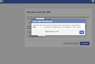 facebook kirim kode verifikasi