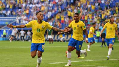 Highlight Brazil 2-0 Meksiko, 2 Juli 2018