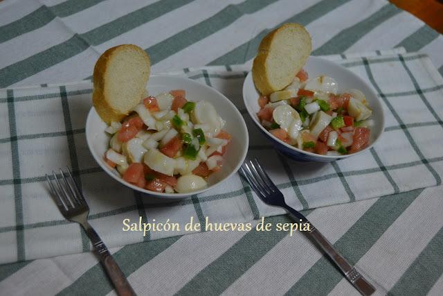 SALPICÓN DE HUEVAS DE SEPIA