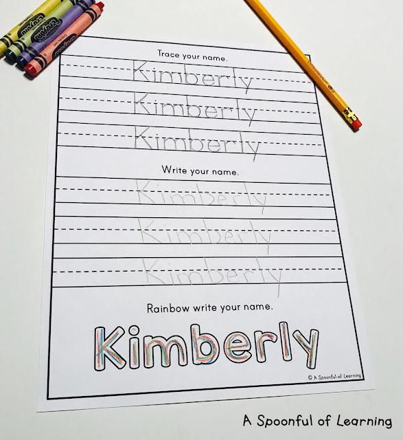 Name Activities -Trace, Write, Rainbow Write 2
