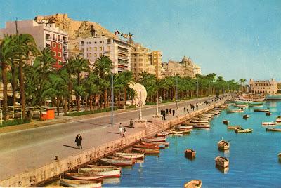 Explanada y puerto, Alicante, agosto 1960