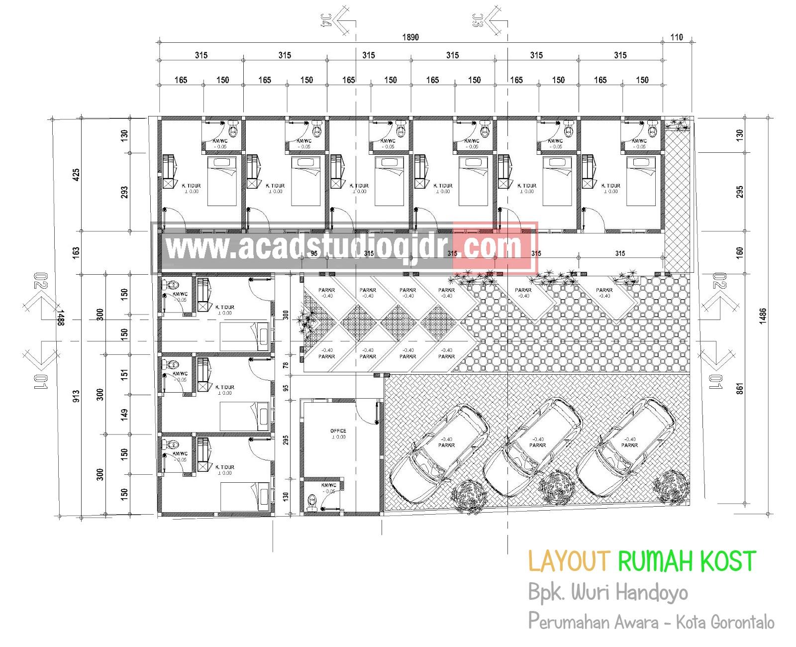 Desain Rumah Kost Bpk Wuri Handoyo Jasa Desain Rumah