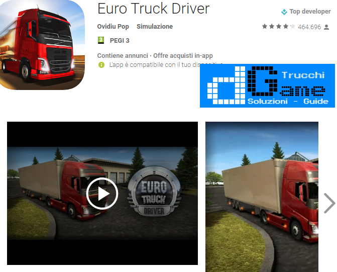 Trucchi Euro Truck Driver  Mod Apk Android v1.5.0