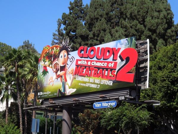Flint Lockwood Cloudy Chance of Meatballs 2 billboard