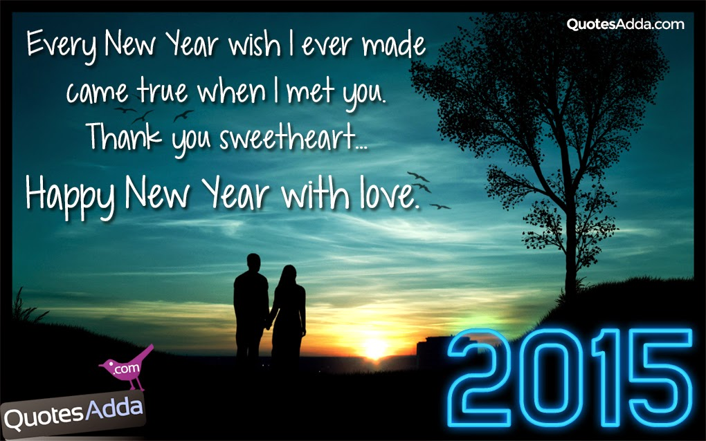 New English Love Quotes: Happy New Year Sweet Heart 2015 Love New Year Greetings