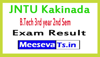 JNTU Kakinada 3rd Year 2nd Sem  B.Tech (R13, R10, R07) Regular / Supply Exams Result