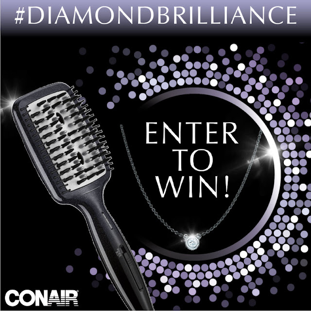 Conair wants you to enter once for the chance to win an Infiniti PRO by Conair Diamond Brilliance Smoothing Hot Brush and a Tiffany & Co. sparkling diamond pendant necklace!