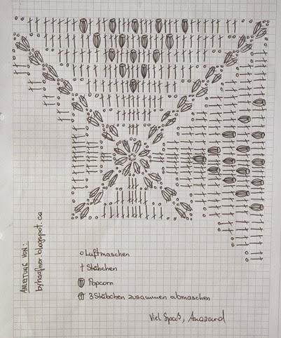 Couverture au crochet au point pop-corn