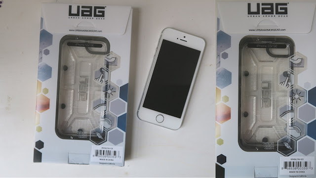 UAG case with packaging and my unshielded brand new iPhone