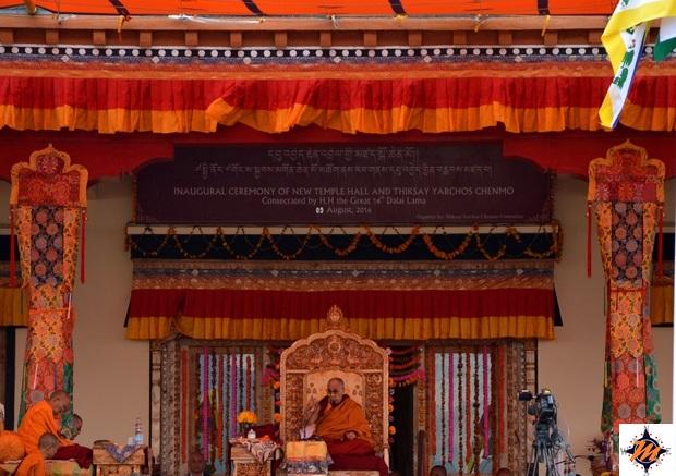 Incontro con il Dalai Lama durante il Thiksey Yarchos Chenmo