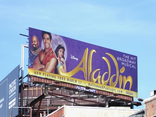 Disney Aladdin musical billboard LA