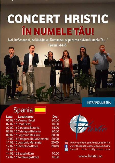 """Turneu """"In Numele Tau"""" in perioada 06-14 feb 2016"""