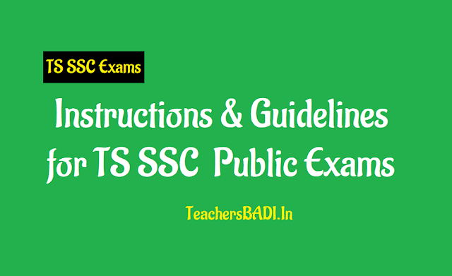 rc.150, important instructions and guidelines to hms and ssc candidates for ts ssc 2019 public exams,hm instructions for ts ssc 2019 exams, guidelines for filling of ssc candidates details