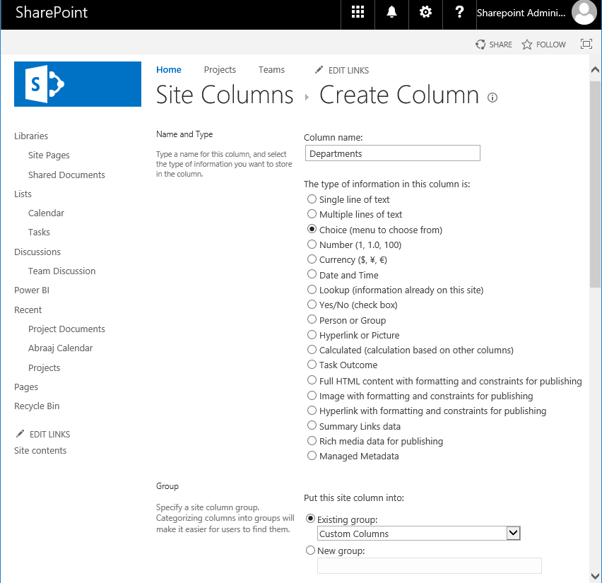 SharePoint Online: Create Site Column using PowerShell