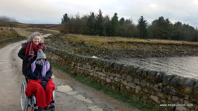 walk around Grimwith with a wheelchair