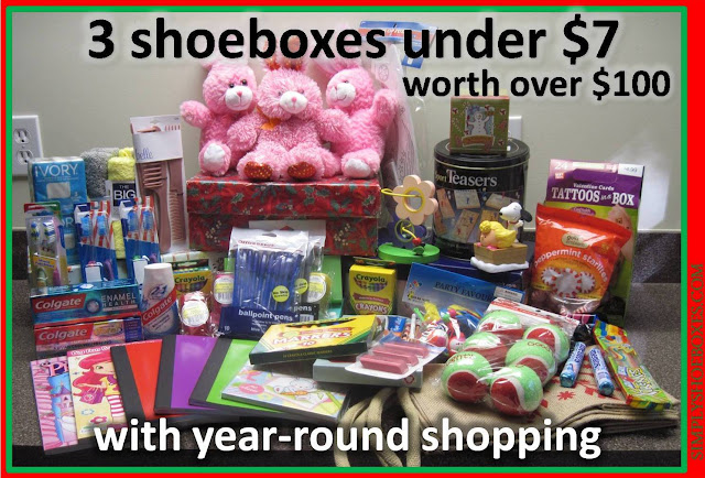 Shopping year round for Operation Christmas Child to pack more boxes.