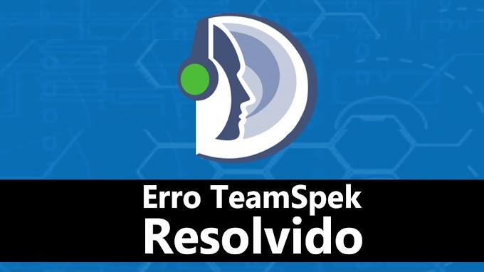 Erro no TeamSpeak Resolvido