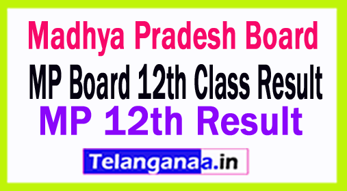 MP 12th Result 2018 MP Board 12th Class Result 2018