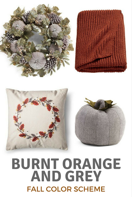 burnt orange and grey fall color palette