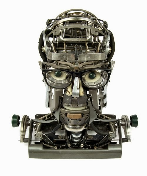 01-Jeremy Mayer-Typewriter-Robot-Sculptures-www-designstack-co