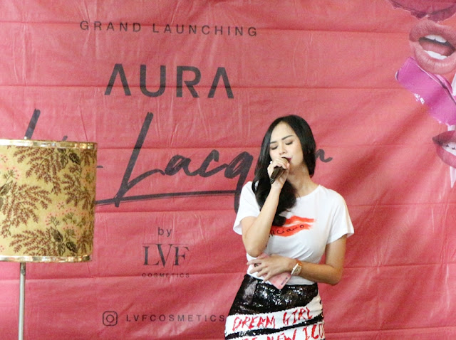 Aura Kasih at LVF Aura Lip Lacquer Press Launch