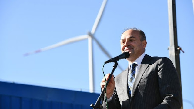 Wind power plant in Kosovo for clean energy