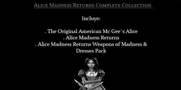 Alice Madness Returns PC FULL Español Complete Collection