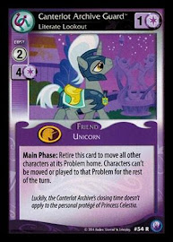 My Little Pony Canterlot Archive Guard, Literate Lookout Canterlot Nights CCG Card