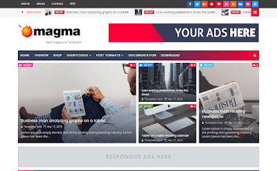 Magma Responsive Magazine Blogger Template