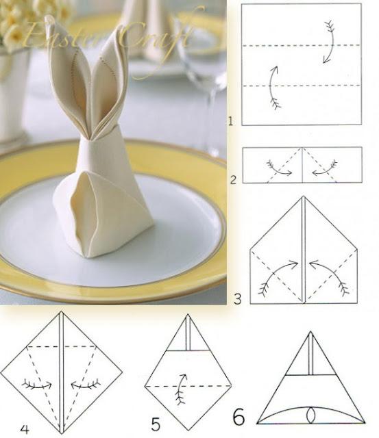 cum faci un servetel in forma de iepuras
