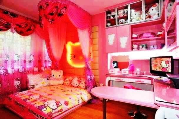 Foto Kamar Tidur Anak Perempuan Hello Kitty