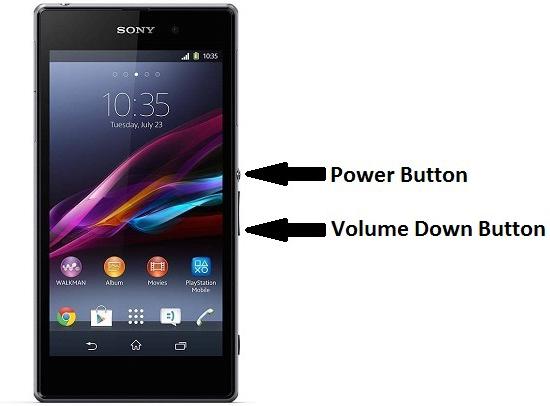 Cách chụp màn hình điện thoại Sony