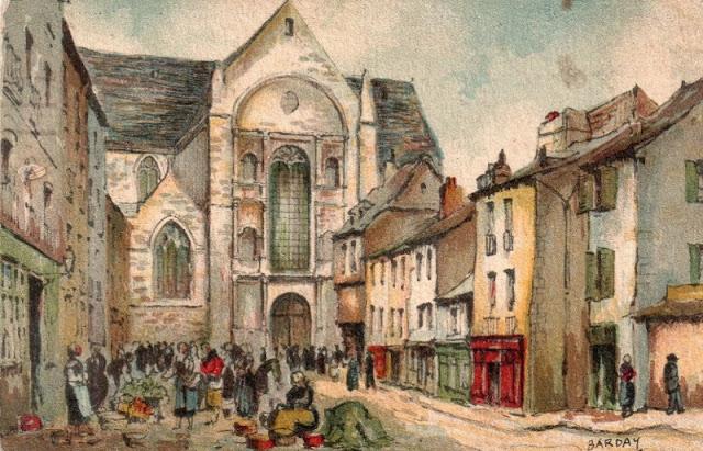 Jour de marché sur la Place Saint-Germain par Barday