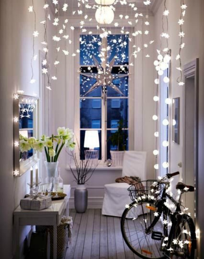 tendencia luces y guirnaldas de navidad