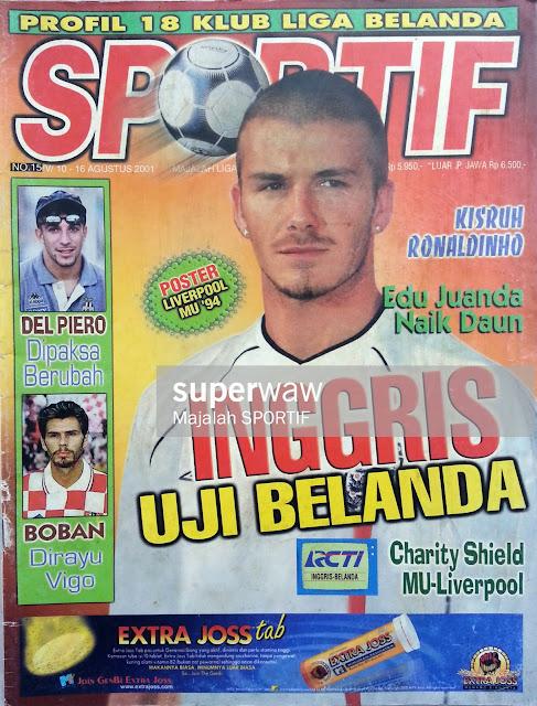 DAVID BECKHAM ENGLAND FOOTBALL MAGAZINE