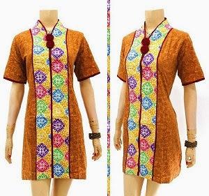 Dress Batik Modern Kombinasi