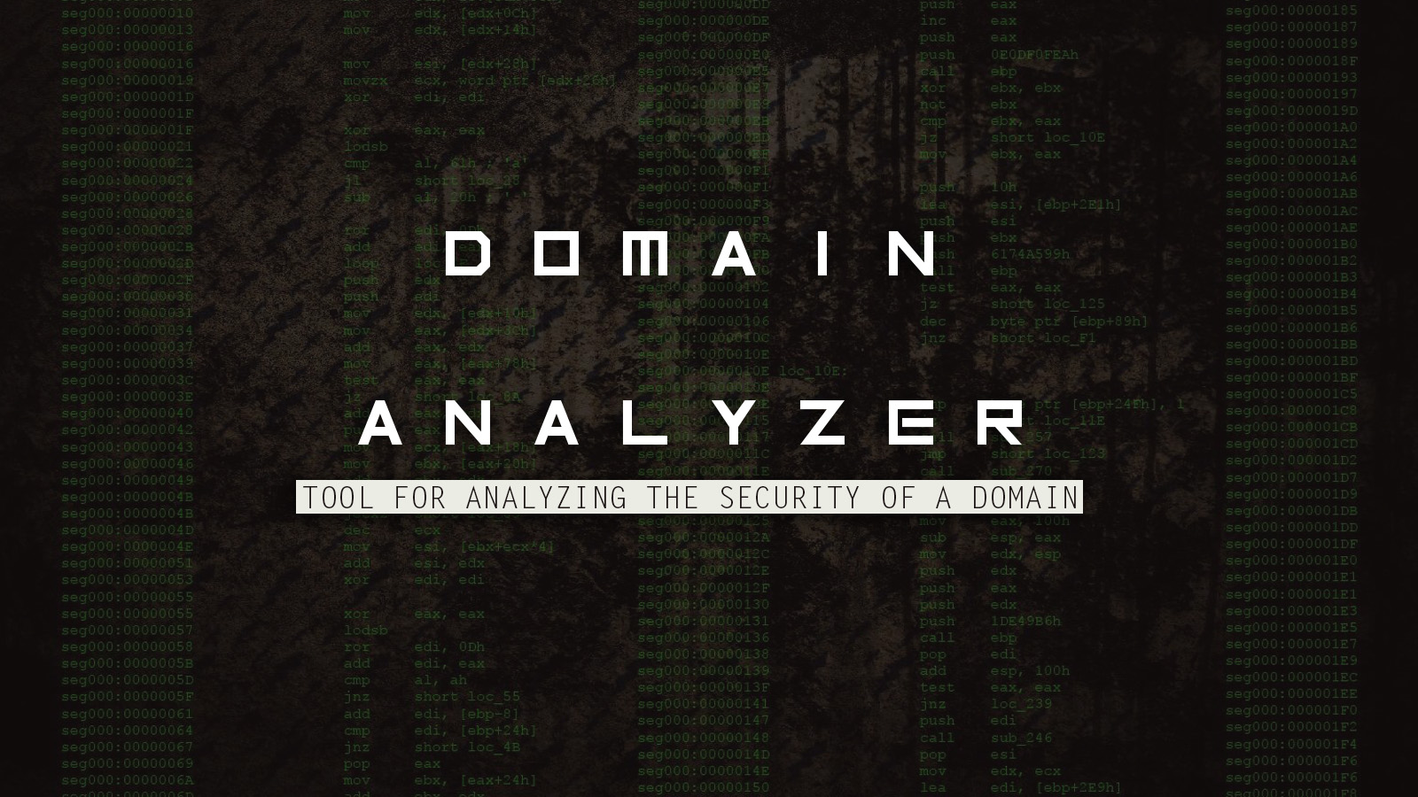 Domain Analyzer - Tool For Analyzing the Security of a Domain
