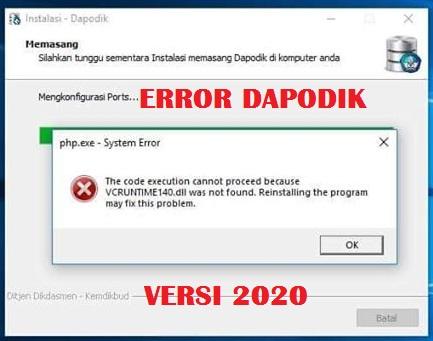 gambar error aplikasi dapodik 2020