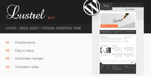Lustrel - Unique Agency / Personal Wordpress Theme Free Download by ThemeForest.