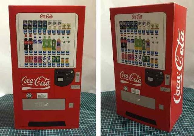 Papermau Coca Cola Vending Machine Paper Model In 1 12